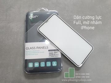 Dán cường lực mờ nhám iPhone 11Pro Max, XsMax hiệu Gor (chống vân tay)
